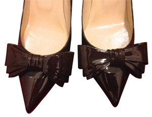 Valentino Date Night Office Wear Bow Patent Leather Pointed Toe Pumps