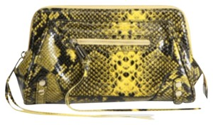 Rebecca Minkoff Black & Yellow Clutch