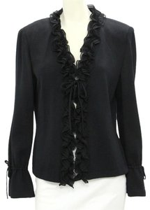 St. John Evening Separates Santana Knit Black Blazer