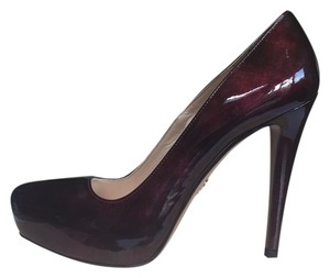 Prada Bordeaux (pearlized) Platforms