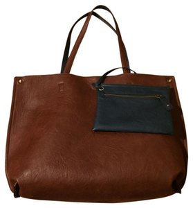 Free People Tote in Brown/Navy