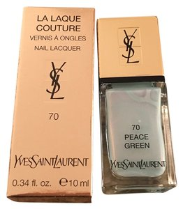 Saint Laurent Yves Saint Laurent Peach Green Nail Polish Limited Edition #70