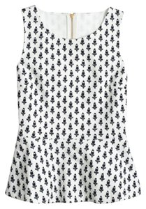 J.Crew Top white/navy