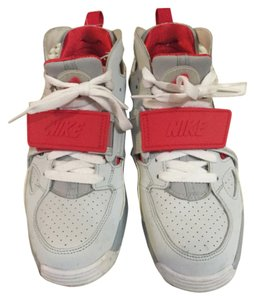 Nike Velcro Trainers Grey and Red Athletic