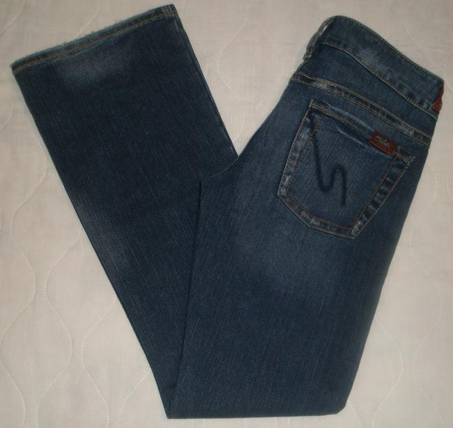 Silver Jeans Co. * 5 Pocket Style * Zip Fly * Low Rise Grinding Detail Boot Cut Jeans-Dark Rinse