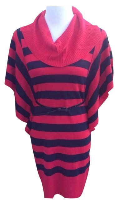 Preload https://img-static.tradesy.com/item/1141396/derek-heart-red-black-blackred-stripe-sweater-workoffice-dress-size-10-m-0-0-650-650.jpg