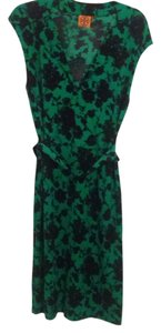Tory Burch short dress Navy Blue and Bright Green on Tradesy