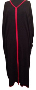 black with red trim Maxi Dress by Colette Mordo