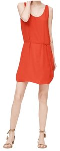 Ann Taylor LOFT short dress Red Orange Sleeveless Vented on Tradesy