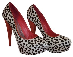 bebe Leopard with red Platforms