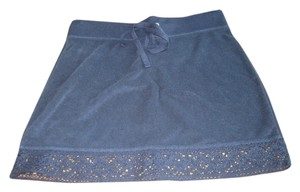 Gap Coverup Terrycloth Mini Skirt Navy