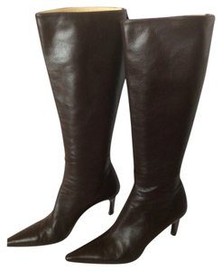 Gucci Knee High Stiletto Brown Boots
