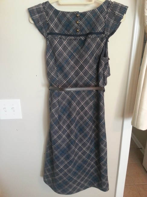 Anthropologie Belt Tweed Retro Dress