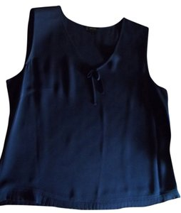 Escada Silk Made In Germany Elegant Top Navy
