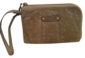 Fossil Wristlet in Olive Green