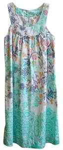Red Camel short dress Light pale green with multi colors on Tradesy