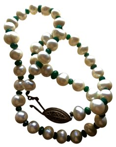 JOANIE HERRING DESIGNS HOUSTON pearl and emerald necklace