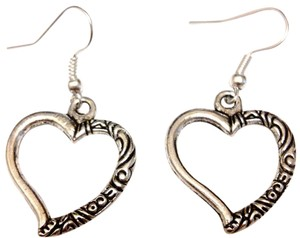 Other heart tibetan silver earrings