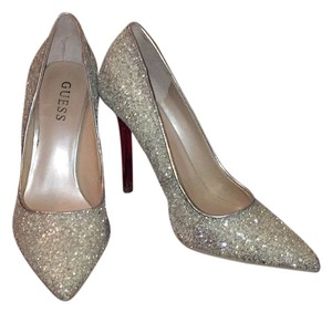 Guess Glitter silver Pumps