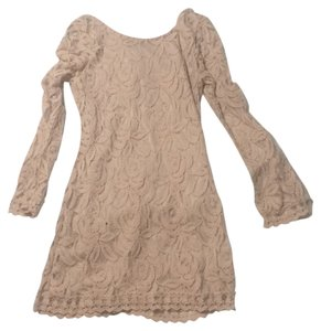 Gianni Bini short dress Pink/Beige on Tradesy