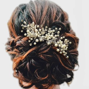 Pearl And Crystal Bridal Comb