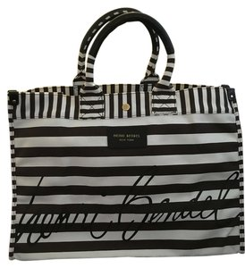 Henri Bendel Brown and white Beach Bag