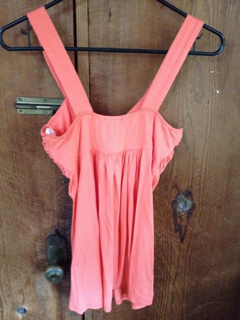 Other Beaded V-neck Top coral
