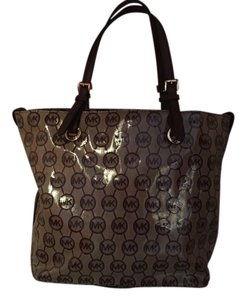 Michael Kors Large Monogram Trendy #38h2yttt4u Handbag Tote in brown