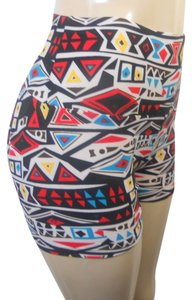 Other Short Tribal Aztec Shorts Women's Women's Shorts Multi color Leggings