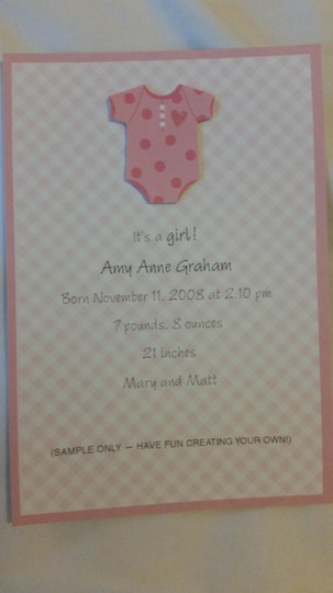 Other 4 boxes - girl invitations, announcements or thank-yous.