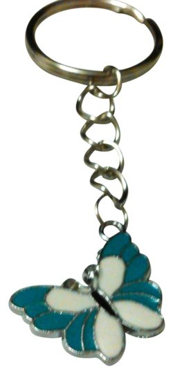 Miss Me blue butterfly keychain