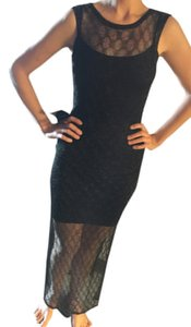 bebe Slit Evening Nye New Years Dress