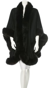 Loro Piana Fox Fur Cashmere Opera Shawl Cape