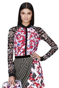 Peter Pilotto for Target Button Down Shirt Red floral