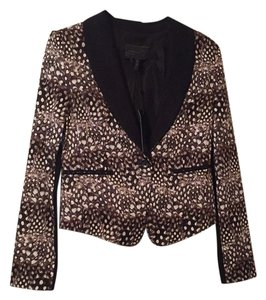 BCBGMAXAZRIA Black/cream/browns Blazer