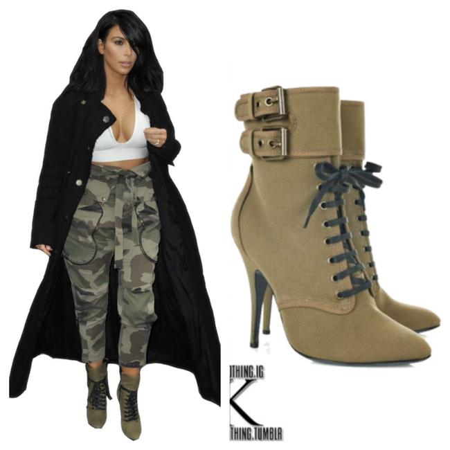 Item - Green Military Boots/Booties Size US 8.5 Regular (M, B)