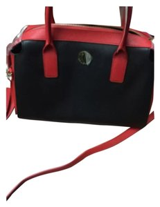 DKNY Satchel in Black/Red