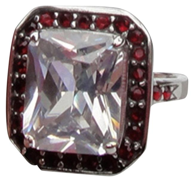 Item - White Red Silver The Vegas Ring