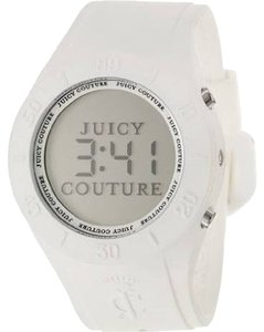 Juicy Couture Women's Digital Sport Couture White Rubber Strap
