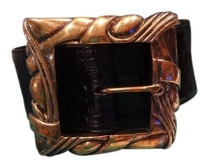 Barry Kieselstein-Cord Vintage BARRY KIESELSTEIN-CORD genuine black alligator skin/massive sterling buckle&belt!!!
