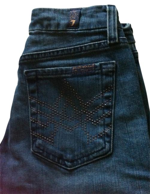 7 For All Mankind Studded Boot Cut Jeans-Distressed
