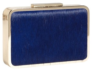 Pour La Victoire Half Calf Cobalt Hair Dress Gold Hardward blue Clutch