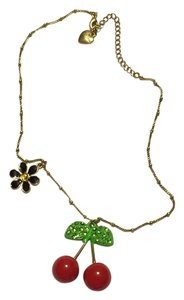 Betsey Johnson Betsey Johnson Cherry Pendant and Chain