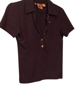 Tory Burch Button Down Shirt Chocolate brown, gold hardware
