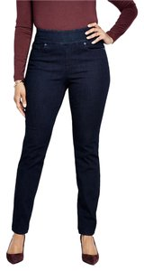 Lands' End Pull On Skinny Jeans-Dark Rinse