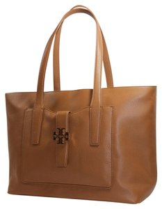 Tory Burch Meyer Leather Brown Tote in Bark (Brown)