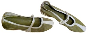 Cole Haan Mary Jane Hann green Flats