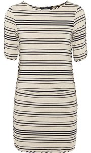 Tart short dress Oatmeal/Navy Striped Classic Comfortable on Tradesy