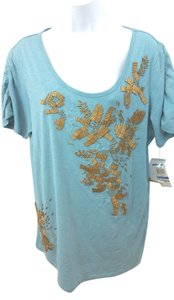 Style & Co Co. Cotton Top LIGHT AQUA