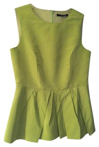 Tibi Peplum Top Lime Green